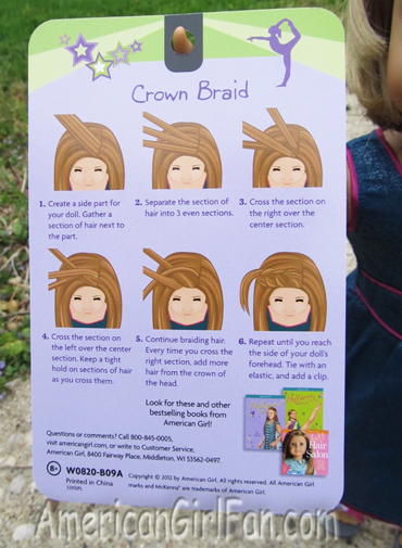McKenna Hairstyle Card instructions
