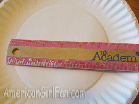 Width of paper plate