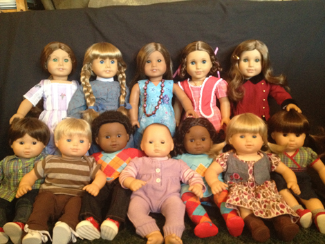 All her dolls