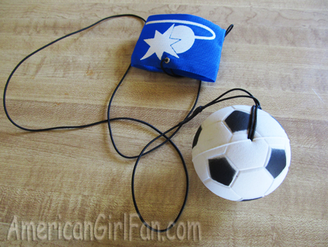 Soccer ball attatched
