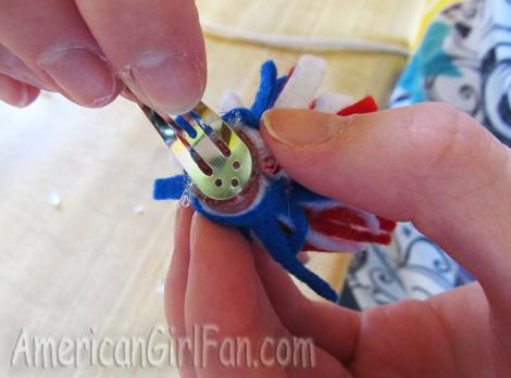 Glue on clip