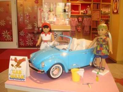 Ivy and Julie with Car stuff