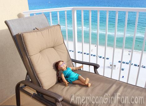 Felicity relaxing