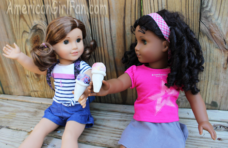 Rebecca and Cecile with snocones