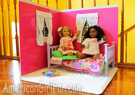 The doll room with Kit and Cece