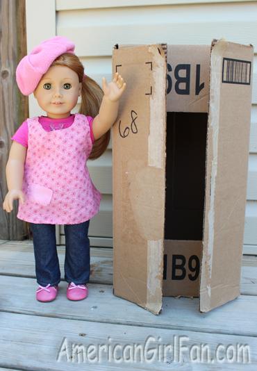 Mia with box