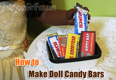 Make Doll Candy Bars