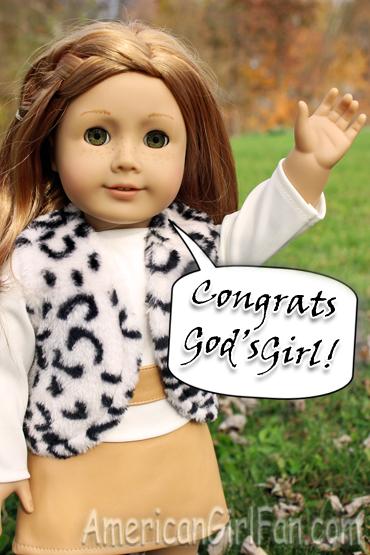Congrats GodsGirl for Giveaway