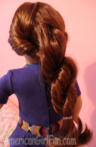 How To Do Saiges Hairstyle AmericanGirlFan - Hairstyles for dolls with long hair