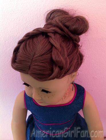 maiden braided bun doll hairstyle