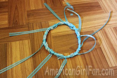 Ribbon tied