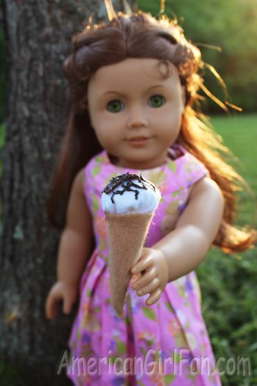 Felicity with icecream