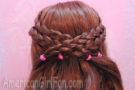 Criss Cross Braided Doll Hairstyle Americangirlfan