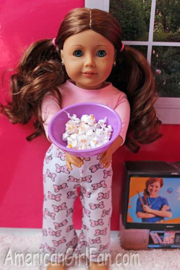 Saige makes popcorn