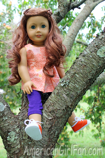 Saige in the tree