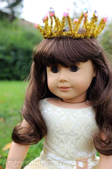 Wearing crown