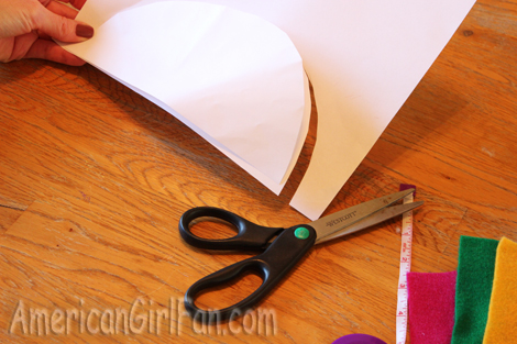 how to connect pieces of cut out doll