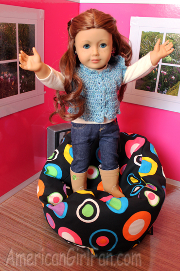 Enjoyable Review Of Ahh Products Doll Bean Bag Chairs Americangirlfan Ocoug Best Dining Table And Chair Ideas Images Ocougorg