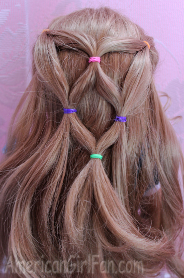 Doll Hairstyle Rainbow Ponytail Veil Americangirlfan