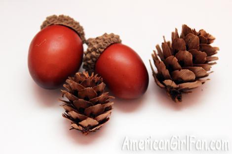 Acorns and pinecones