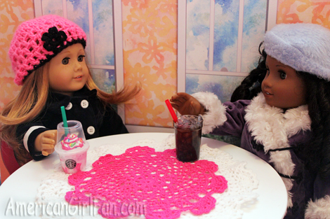 Cecile and Mia drinking