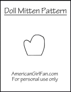 AG Fan Doll Mitten Pattern