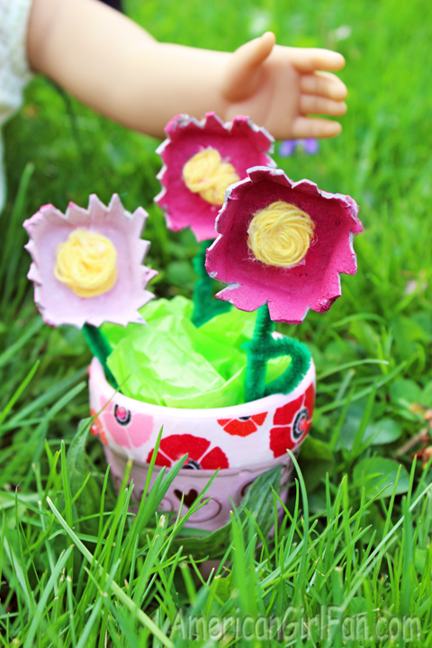 Make recycled flowers