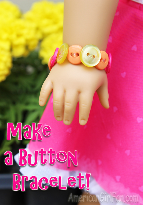 Make a button bracelet