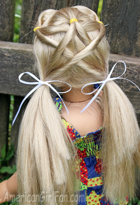 Doll Hairstyle You Re A Star Pigtails Americangirlfan