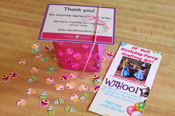 Devon Sent Me Her Doll Party Craft Kit To Review AND One GIVE AWAY Lucky American Girl Fan First Let Show You All Thats Included In This