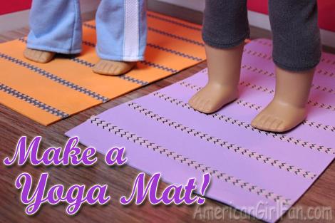 Doll Craft Make A Yoga Mat Americangirlfan