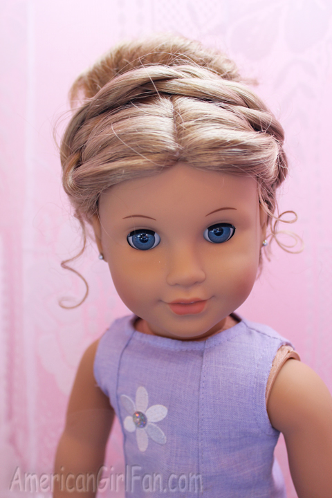Fantastic Doll Hairstyle Fancy Buns For Easter Americangirlfan Hairstyles For Women Draintrainus
