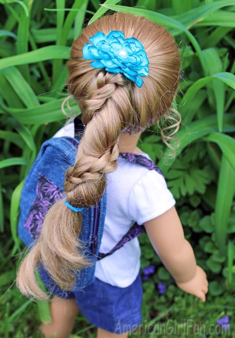 Doll Hairstyle Rapunzel Ponytail Twist AmericanGirlFan