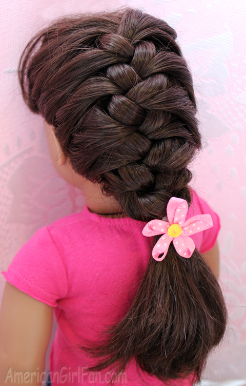 Doll Hairstyle How To Do A French Braid AmericanGirlFan - Hairstyles for dolls with long hair