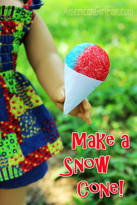 doll recipe make a snow cone americangirlfan. Black Bedroom Furniture Sets. Home Design Ideas