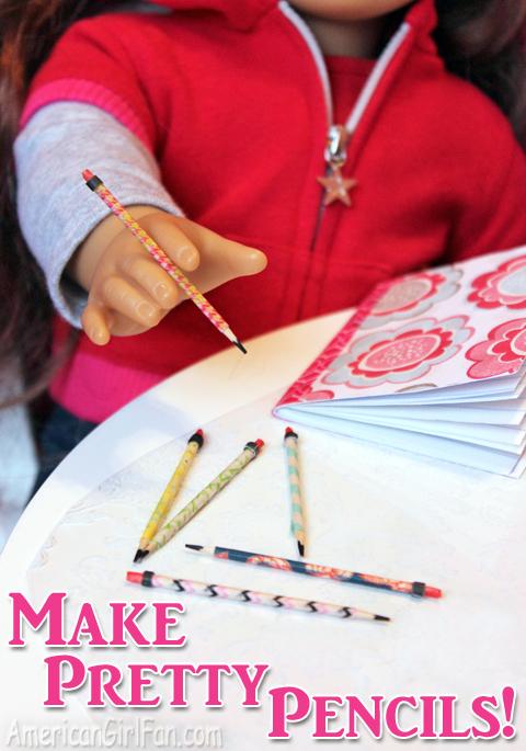 Make pretty doll pencils