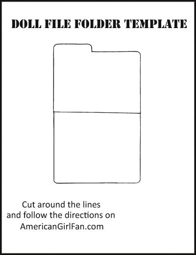 doll craft make school folders with free printables americangirlfan. Black Bedroom Furniture Sets. Home Design Ideas