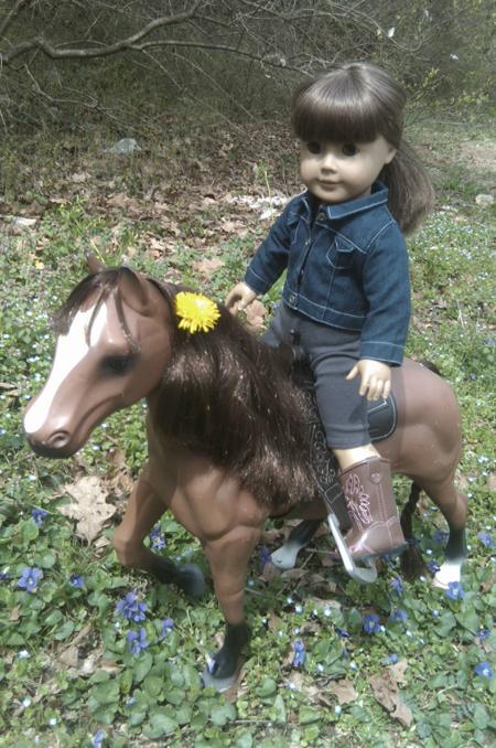 Jenna riding Dandelion (1)