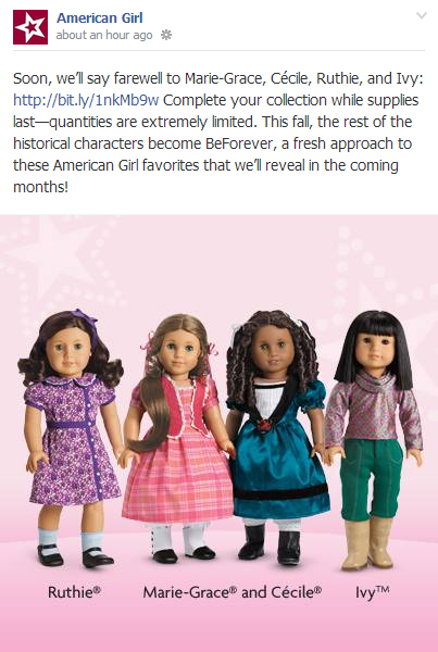 American Girl Archiving News 2014