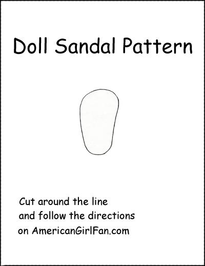 Doll Sandal Pattern