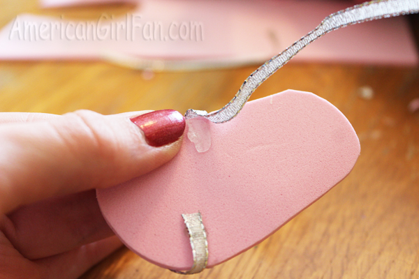 Putting on ribbon