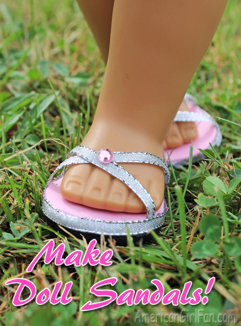 How to make doll sandals