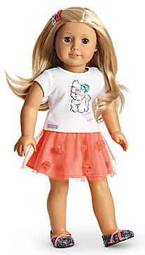 New American Girl T-Shirt from Coconut Fun Outfit for Dolls