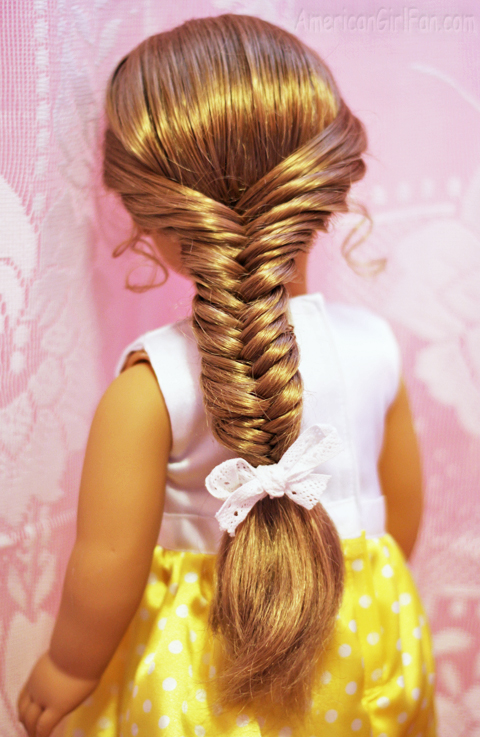 Doll Hairstyle How To Do A Fishtail Braid AmericanGirlFan - Doll hairstyles for grace