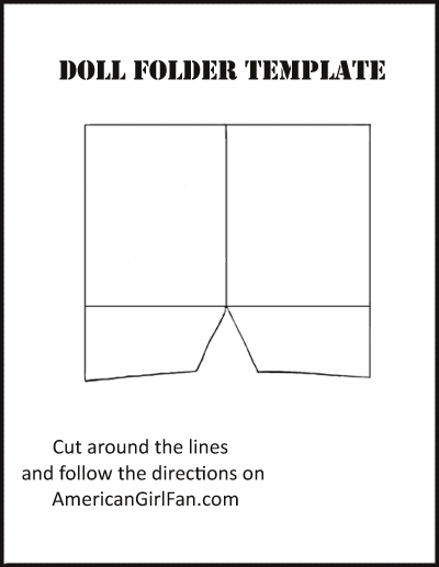 graphic relating to Printable Folders called Doll Craft: Crank out Higher education Folders (With Free of charge Printables