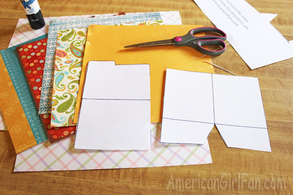 Doll Craft Make School Folders With Free Printables