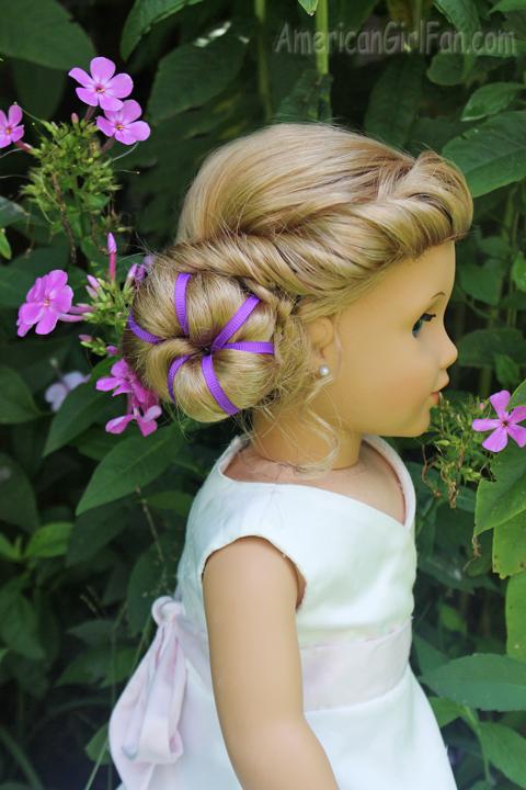 American Girl Doll Disney Hairstyles : Doll hairstyle disney inspired elsa coronation bun