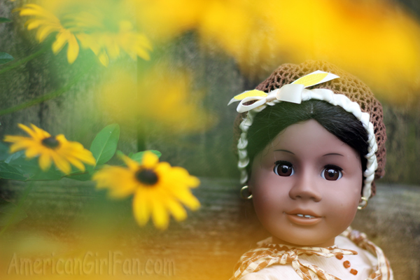 Addy with yellow flowers