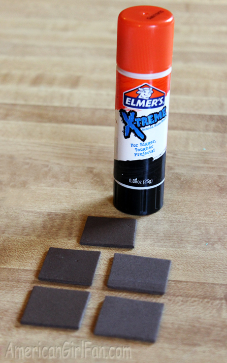 Glue with squares