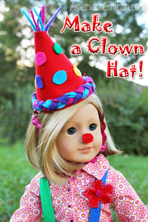 doll craft make a clown hat americangirlfan